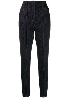Fendi raised seam pattern jeans
