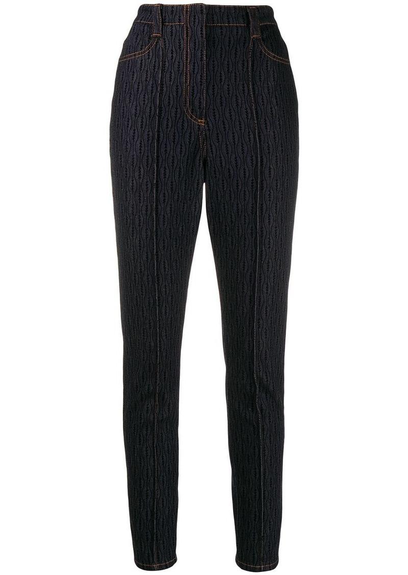 Fendi raised seam pattern jeans