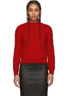 Red 'Forever Fendi' Embossed Sweater