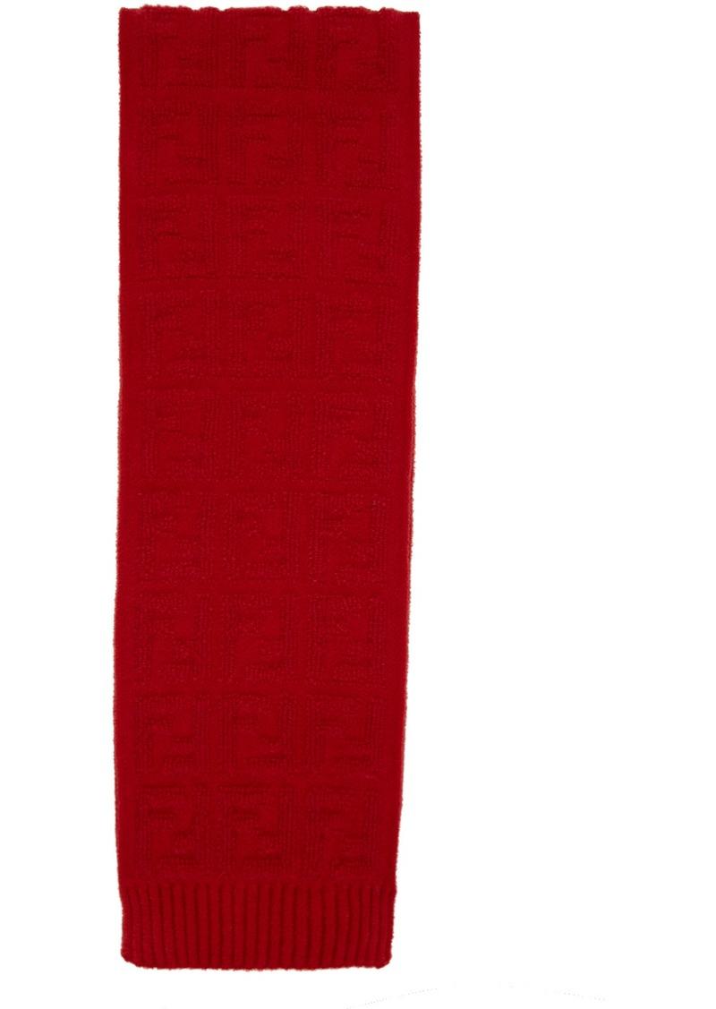Red Mohair 'Forever Fendi' Scarf