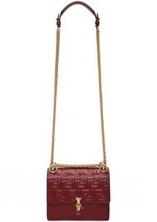 Red Small 'Forever Fendi' 'Kan I' Flap Bag