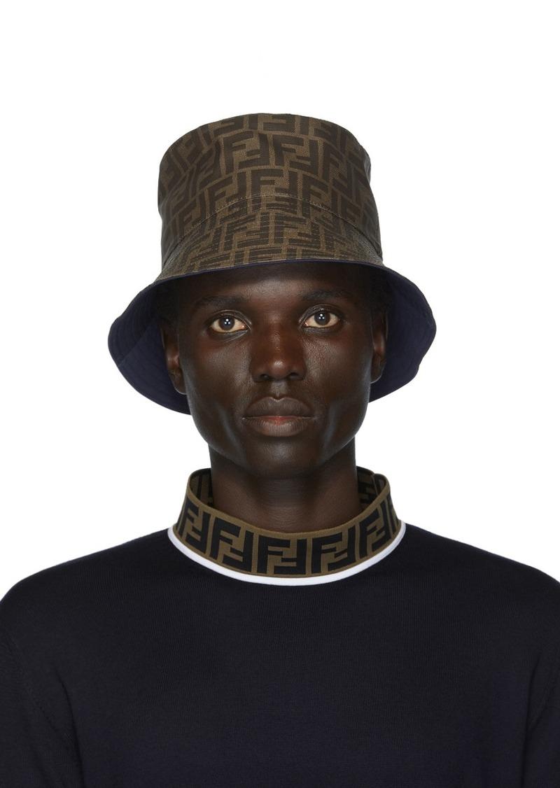 Reversible Blue 'Forever Fendi' Bucket Hat