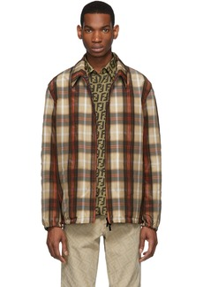 Reversible Brown Plaid 'Forever Fendi' Jacket