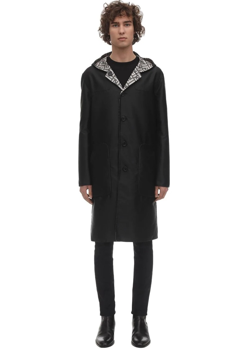 Fendi Reversible Hooded Nylon Coat
