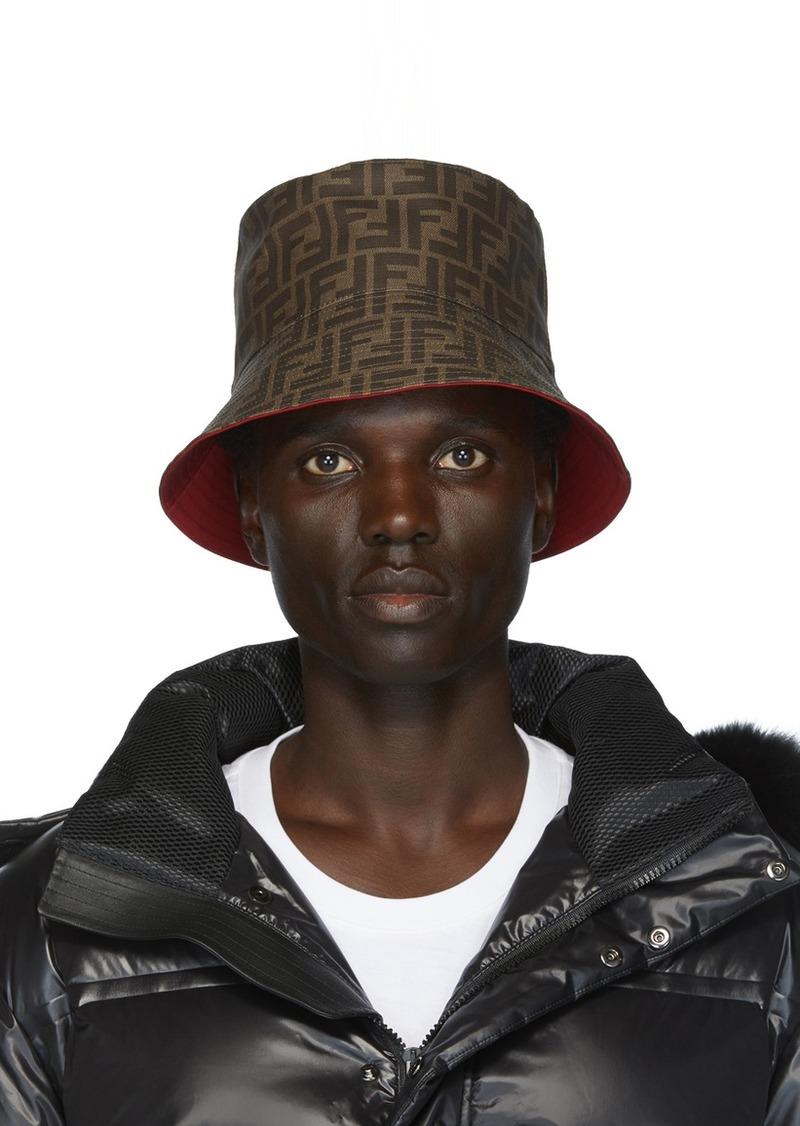 Reversible Red 'Forever Fendi' Bucket Hat
