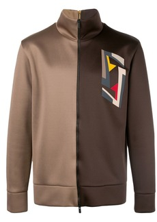 Fendi two-tone zip-up sweatshirt