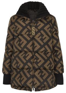 Fendi Reversible Wool Blend-trimmed Printed Quilted Down Ski Jacket