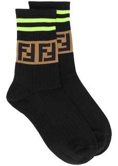 Fendi ribbed FF logo ankle socks