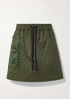 Fendi Ripstop-trimmed Printed Cotton-blend Canvas Mini Skirt
