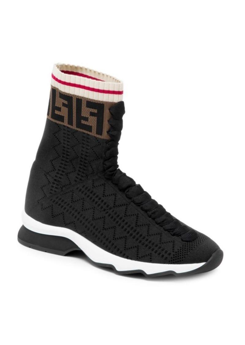 022cb1c2422 Fendi Rockoko High Top Knit Sneakers | Shoes