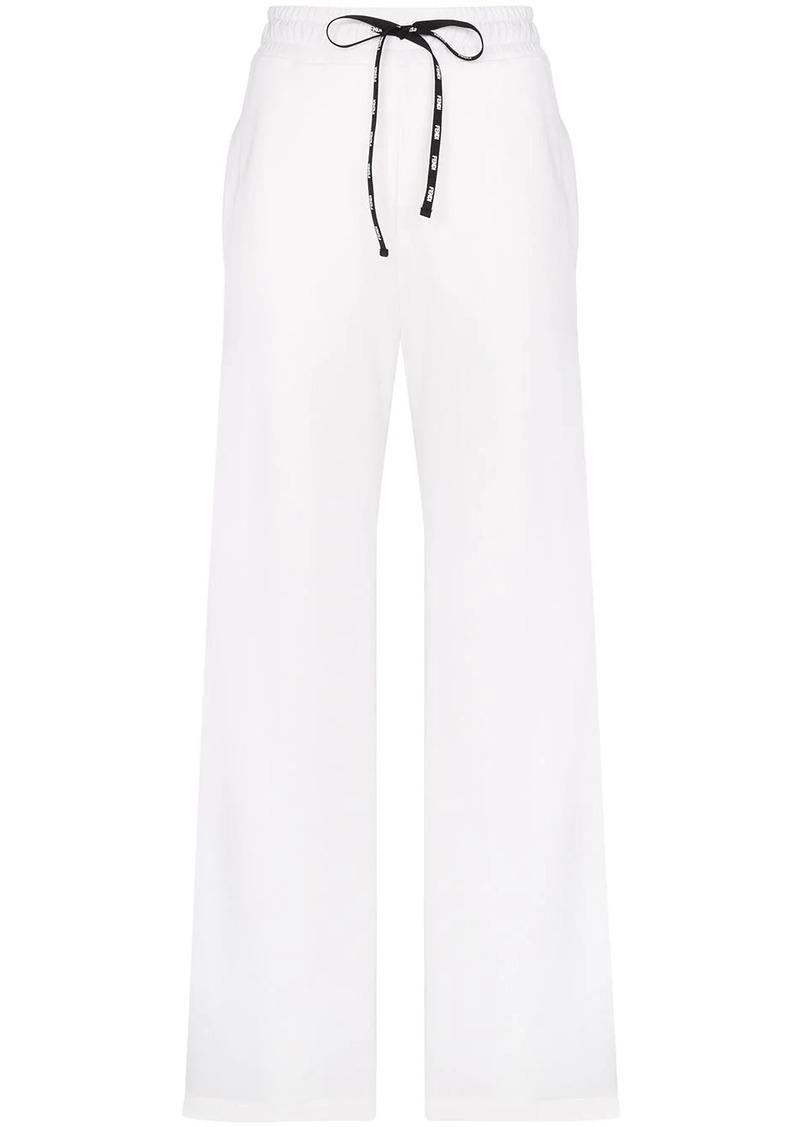 Fendi wide-leg logo stripe track pants