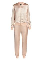 Fendi Roma Satin 2-Piece Track Suit