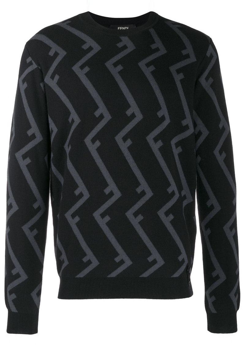 Fendi roof ff motif jumper