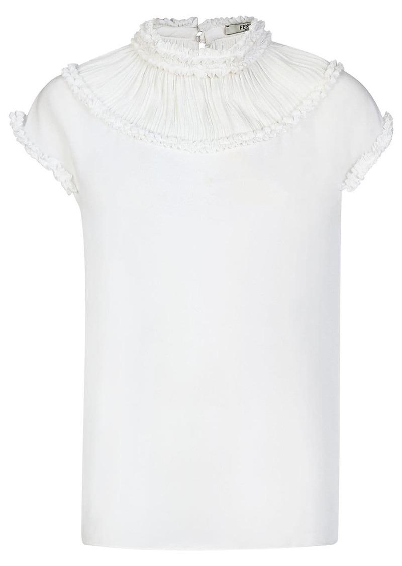 Fendi ruffle neck blouse