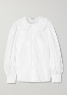 Fendi Ruffled Cotton-poplin Shirt
