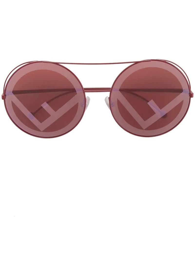 Fendi red Run Away sunglasses