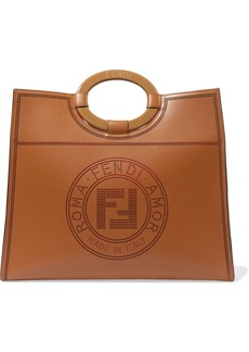 Fendi Runaway Medium Perforated Leather Tote