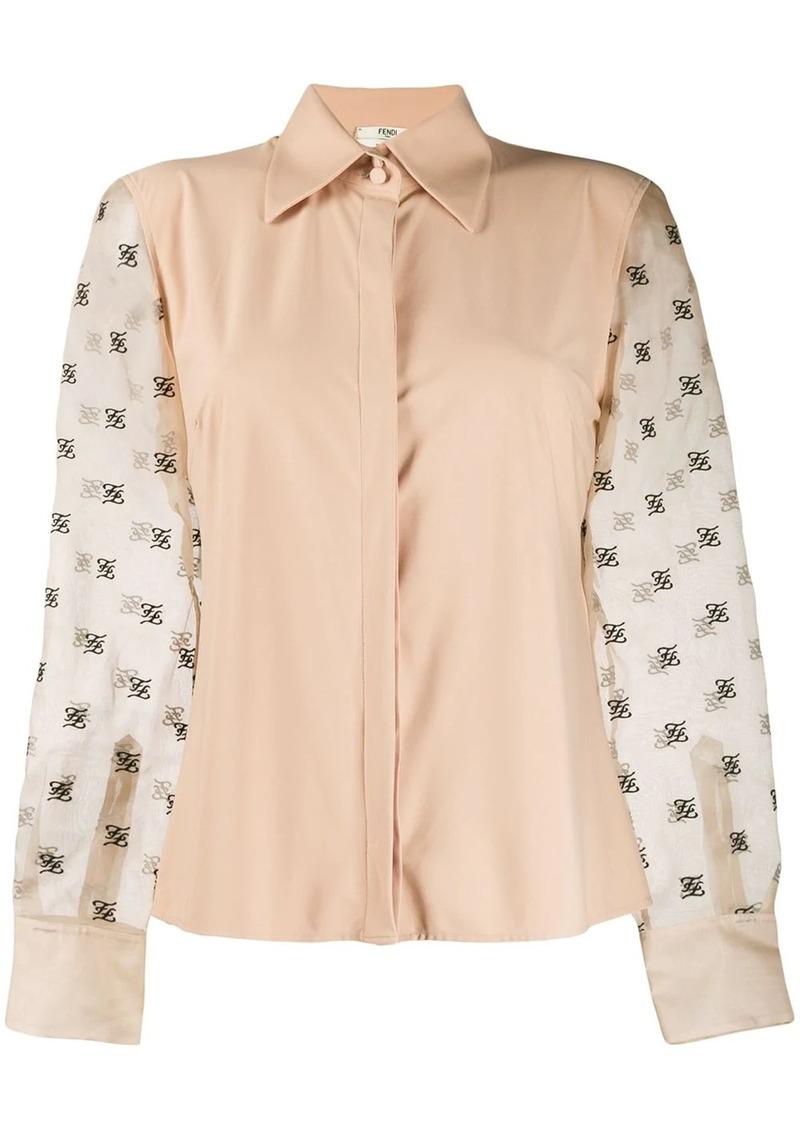 Fendi sheer-sleeve blouse