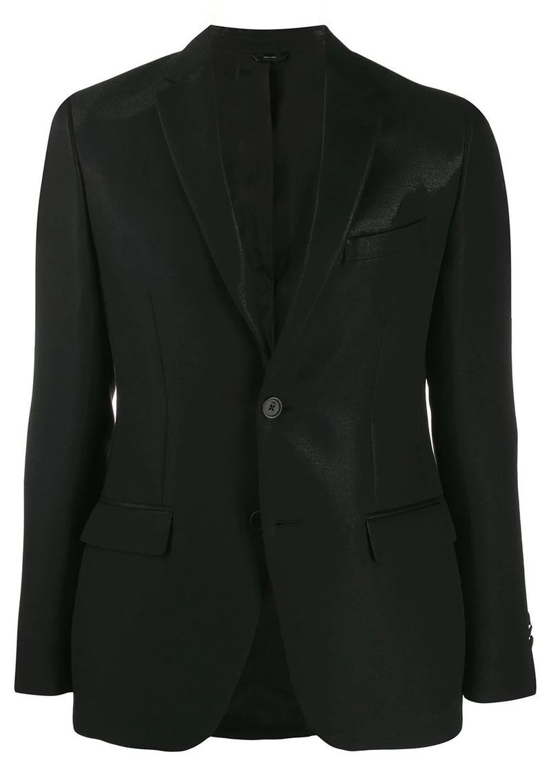 Fendi shine effect single breasted blazer
