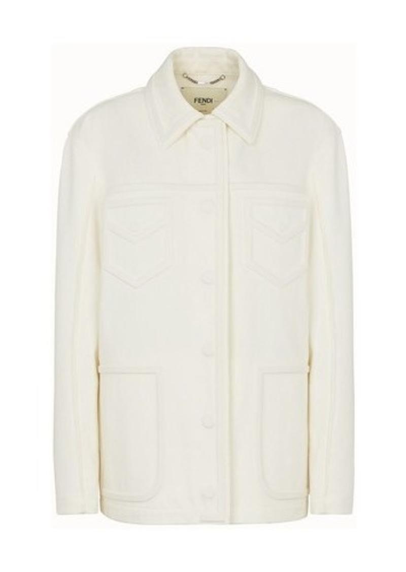 Fendi Shirt-Style Jacket In Denim