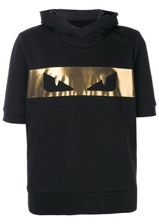 Fendi short-sleeved printed hoodie