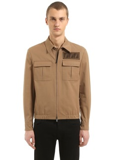 Fendi Signature Ff Light Gabardine Jacket