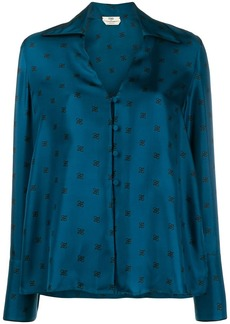 Fendi silk logo printed shirt