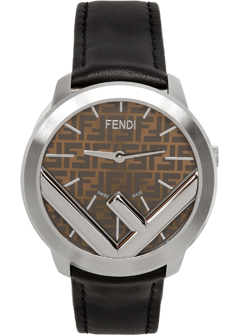Silver & Black Run Away 'F is Fendi' Watch