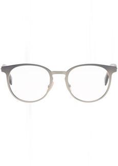 Fendi Silver & Tortoiseshell Round Glasses