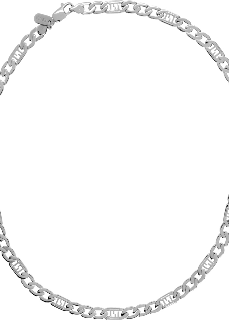 Silver 'Forever Fendi' Chain Necklace