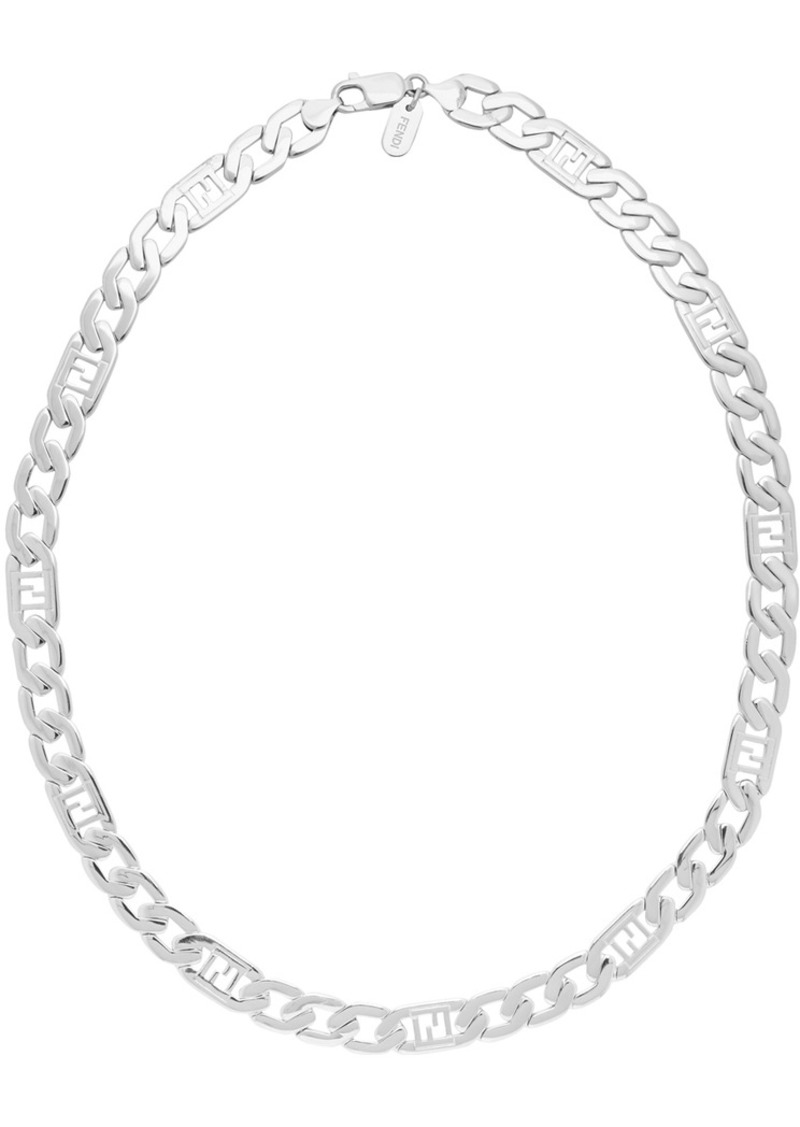Silver 'Forever Fendi' Necklace