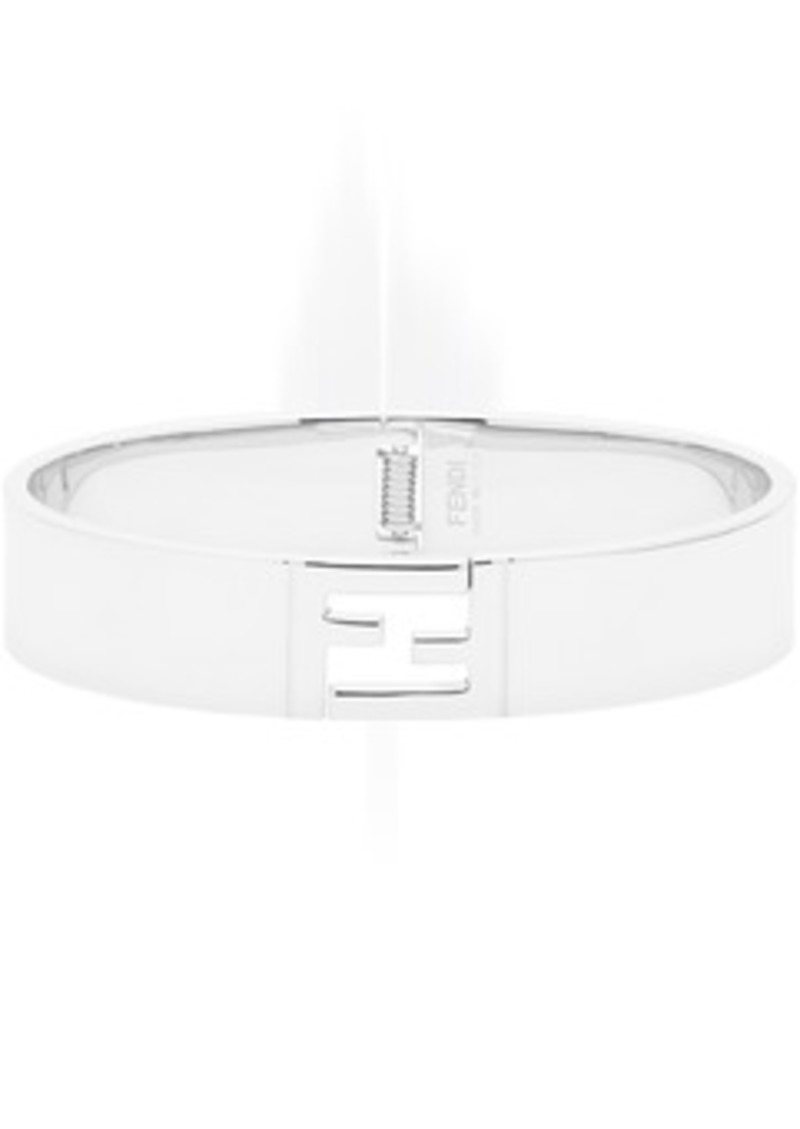 Silver 'Forever Fendi' Open Clasp Bracelet