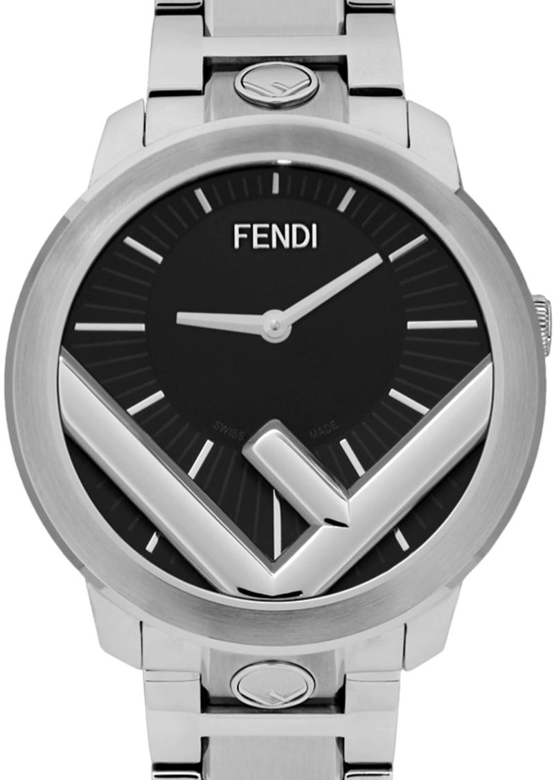 Silver Run Away 'F is Fendi' Watch