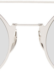 Fendi Silver Small Double Bridge Sunglasses