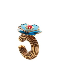 Fendi single flower earring