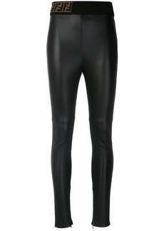 Fendi skinny-fit biker leggings