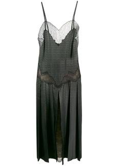 Fendi sleeveless lace panelled dress
