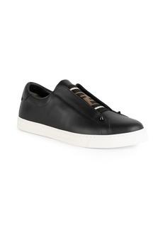Fendi Slip-On Leather Sneakers