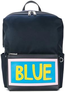Fendi slogan patch backpack