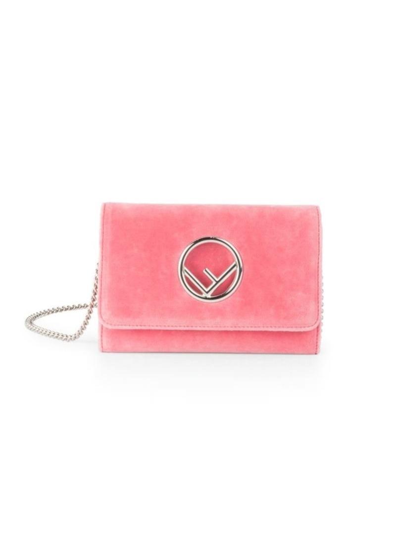 f7a8f6f634 Fendi Small Velvet Chain Wallet