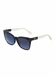 Fendi Square Colorblock Acetate Sunglasses