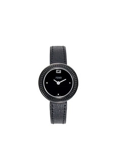 Fendi Stainless Steel & Leather-Strap Watch