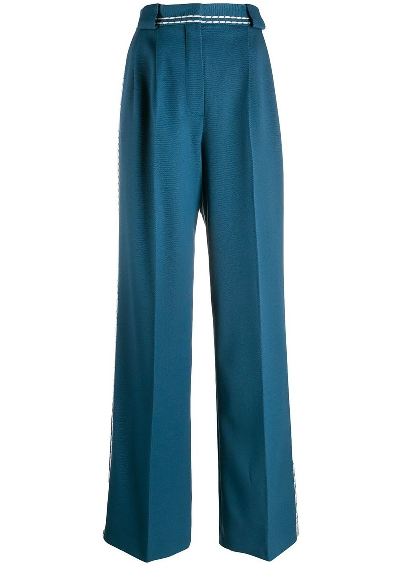 Fendi stitch trim palazzo trousers