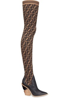 Fendi stocking thigh-high boots