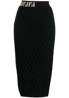 Fendi straight midi skirt