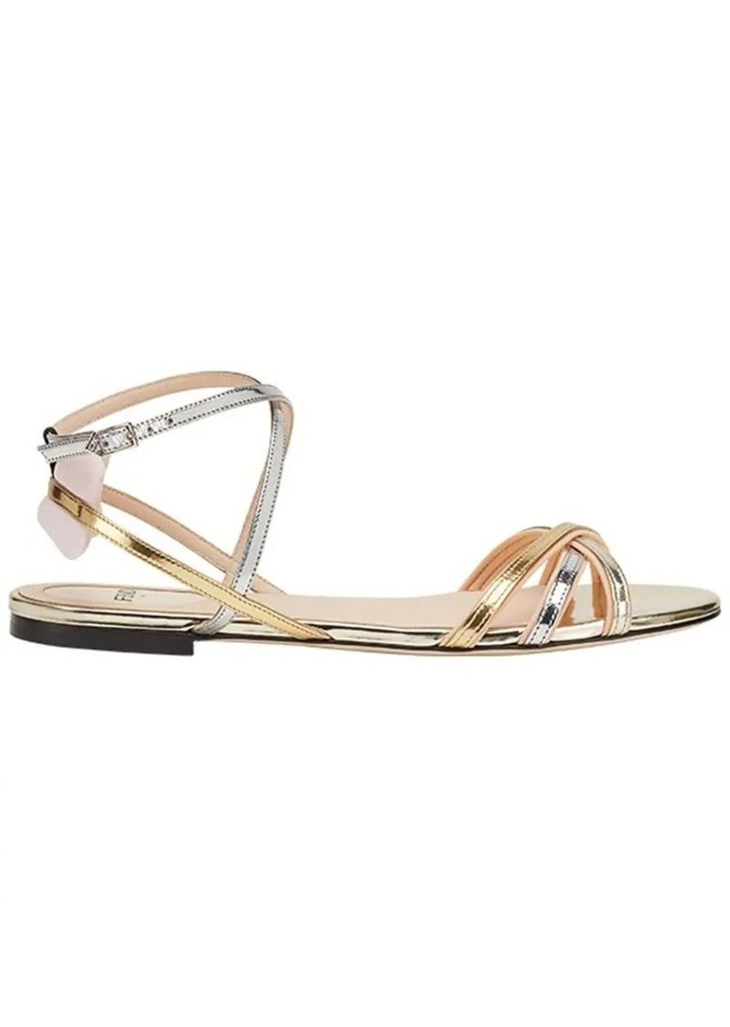 9e47ee940a7 Fendi strappy flat sandals