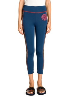 Fendi Stripe Logo Yoga Pants