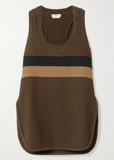 Fendi Striped Cotton-blend Tank