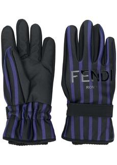 Fendi striped gloves