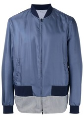 Fendi striped hem bomber jacket